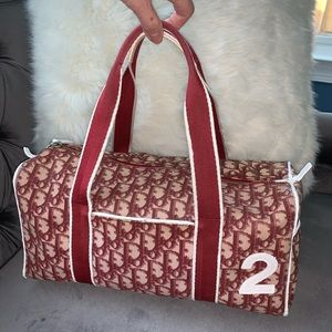 *RARE*💯 Christian Dior Bordeaux Boston Bag